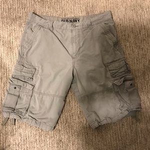 """Old Navy """"Action Cargo Shorts"""". Earl Grey. Size 34"""